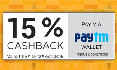 15% Cashback on Pepperfry Via Paytm Wallet
