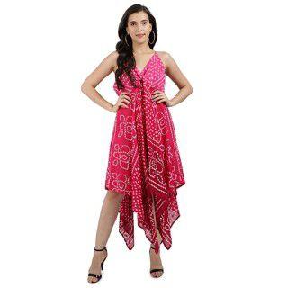 9 Impression Womens Printed Asymmetric Dress