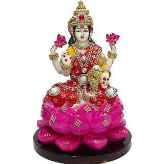 A2Z Polyresin and Marble Lakshmi Ji Lotus