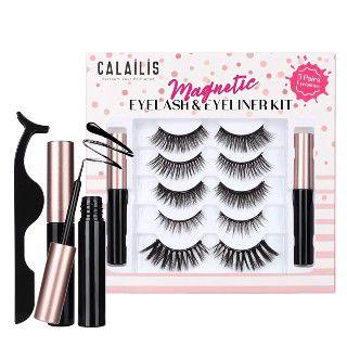 CALAILIS Magnetic False Eyelash and Magnetic Eyeliner Kit