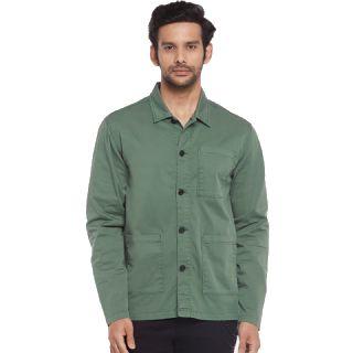 Buy People Men Green Casual Shirt at Best Price