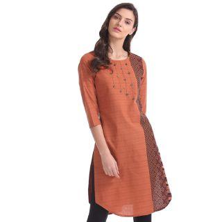 Buy Karigari Women's Cotton Kurta at best price