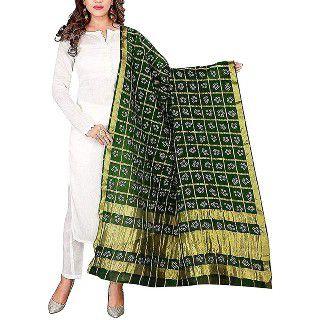 57% Off on Panihari Bandhani womens Orignal Bandhej Silk Dupatta