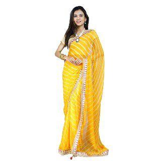Pure Chiffon Saree With Blouse Piece