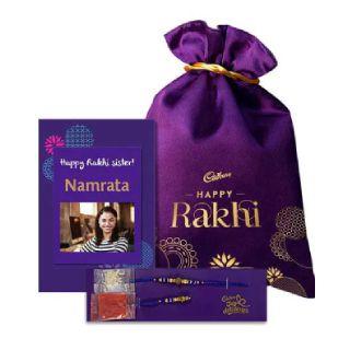 Raksha Bandhan Special Personalised Potli with Rakhi