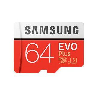 Samsung EVO Plus microSD Card 100 MB/s 64GB (SD Adapter)