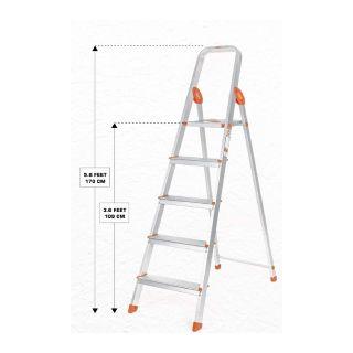 Flat 37% off on Bathla Advance 5-Step Foldable Aluminium Ladder