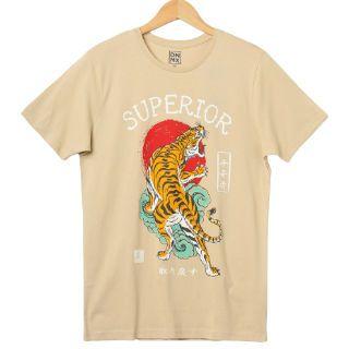 50% Off on Dnmx Tiger Print Crew-neck T-shirt