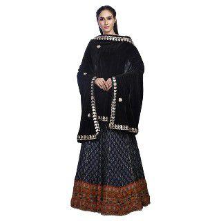 68% Off on Traditions Bazaar Women's Velvet Gota Patti Dupatta