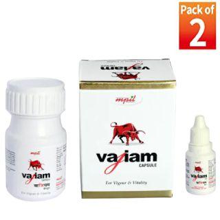 Vajiam Capsules + Oil Combipack (Pack of 2)