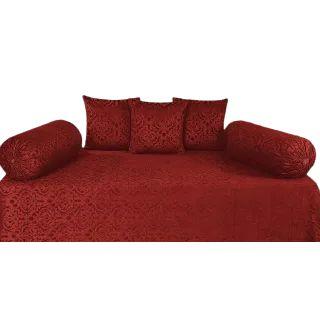 Flat 50% off on Homesajja Premium Velvet Diwan Set of 6 Pieces
