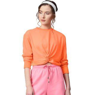 Rs. 660 Off on Women Neon Crop Sweatshirts