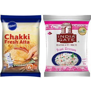 Buy Chakki Atta, Basmati Rice From Rs.30/kg