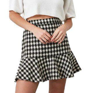 Flat 30% Off on TRENDYOL Checked Mini Skirt