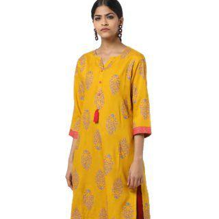 AVAASA MIX N' MATCH Floral Print Straight Kurta at Rs.250