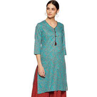 Indigo Women's Cotton Straight Kurti at Rs.429