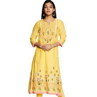 BIBA Women's Cotton a-line Kurta Start at Rs.719