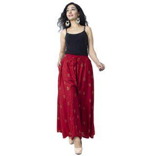 Bharti Creations Women's And Girls Rayon Free Size Printed Skirt Palazzo
