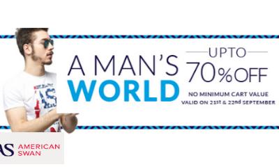 American Swan: Upto 70% Off Menswear
