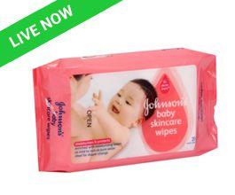 App Friday Johnson's Baby Skincare Wipes (20 Wipes)