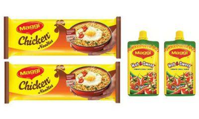 App - Maggi Chicken Noodles (284gX2) + Maggi Hot & Sweet Pichkoo (Pack of 2)