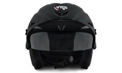 App Only - Vega Helmet - Cruiser With Peak (Dull Black)