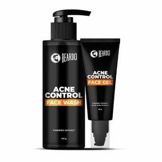 Beardo Acne Control Facewash & Face Gel Combo at Rs.312 + 10% GP Cashback