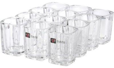 Blinkmax Shot Glass KTY1502 (60 ml, White, Pack of 12)
