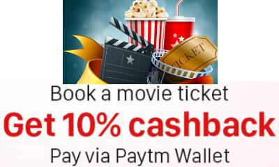 BookMyShow - Book a Movie Ticket & Get 10% Cashback Via Paytm Wallet