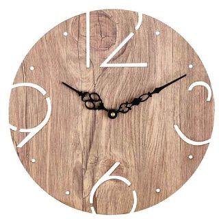 Save Rs.250 on Brown Engineered Wood Analog Wall Clock
