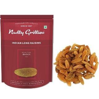 Flat 15% Off on Nutty Gritties Long Raisins Kishmish(200g) via Coupon Code + Extra GP Cashback