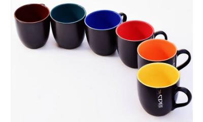 Cdi Matt Finish Stoneware 150 ML Mugs - Set of 6