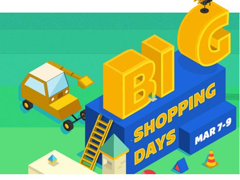Big Shopping Days ! Upto 80% + Extra 10% Off