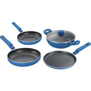 Flat 54% off on Prestige Omega 4 Pcs Induction Bottom Cookware Set (Aluminium, 4 - Piece)