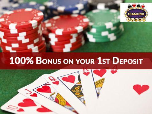Diamond Rummy Offer: Get 100% Bonus on your 1st Deposit