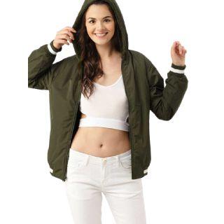 Flat 48% off on Dressberry  Full Sleeve Printed Women Jacket