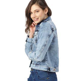 Get 63% off on Dressberry  Full Sleeve Solid Women Jacke