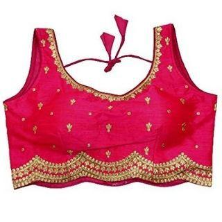 Flat 50% Off on Durva Export Women's Designer Heavy Phantom Silk Readymade Blouse for Saree and Lehenga Choli