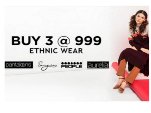 Ethnic Wear: Buy 3 @ Rs.999