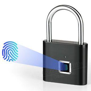 Keyless USB Rechargeable Door Lock with Fingerprint