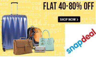 Flat 40- 80% Off On Backpacks & Luggage