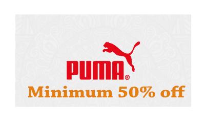 Flat 50% Off On Puma Footwear For Men's