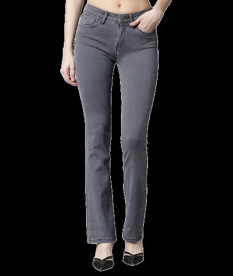 Tokyo Talkies  Boot-Leg Women Grey Jeans