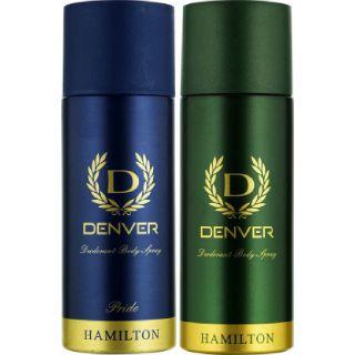 Denver Deodorant Spray - For Men  (330 ml, Pack of 2)