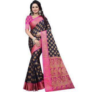 Self Design Banarasi Cotton Silk Saree  at Rs.899