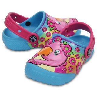 Save 50% on FunLab Flamingo/Electric Blue Kids-Unisex Clog
