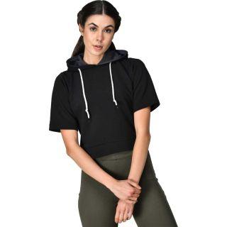 Get 64% off on Genshi  Short Sleeve Solid Women Sweatshirt