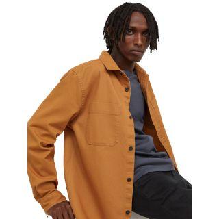H&M Mens Brown Regular Fit Shirt jacket