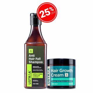 Flat 25% off on Hair Growth Cream & Anti Hair-fall Shampoo