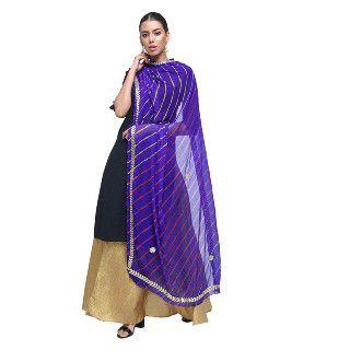 45% Off on Kastiel Women's Chiffon Leheriya Print Dupatta